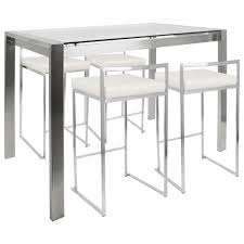 contemporary counter height table fuji 5 piece contemporary counter height dining set free shipping