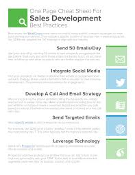 Prospect Tracking Spreadsheet One Page Sales Development Cheat Sheet