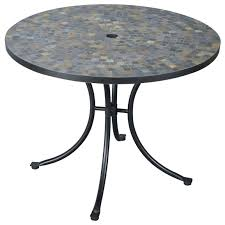 Castlecreek Patio Furniture by Stone Harbor Slate Tile Top Outdoor Table 224986 Patio