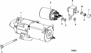 mercruiser 5 0l mpi alpha bravo starter motor parts