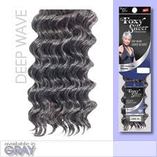 human hair in salt and pepper amazon com foxy weave deep wave12 foxy silver human hair