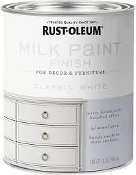 snow white milk paint kitchen cabinets rust oleum 331049 milk paint finish quart classic white