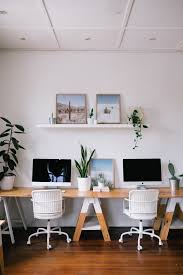 smack bang designs studio office space white plants home