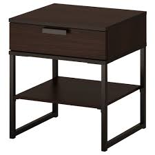 Brown Black Bedroom Furniture Bedroom Dark Brown Ikea Nightstand With Shelf And Drawer For