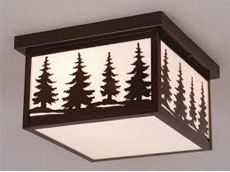 Rustic Ceiling Light Fixture Rustic Cabin Outdoor Lighting Rustic Post Lights Lodge Ourdoor
