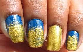 nail designs gold and blue gallery for gt blue and gold nail art
