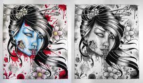 tattoo ideas zombie fabulous zombie geisha tattoo designs for boys picsmine