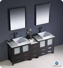 Bathroom With Two Vanities Fresca Torino 72