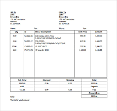 sample billing invoice 12 documents in pdf word excel