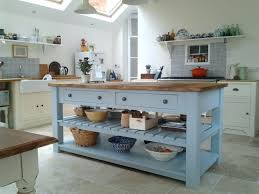 free standing island kitchen units freestanding island kitchen units rustic painted 4 drawer kitchen