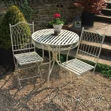 Wrought Iron Bistro Chairs Garden Bistro Sets Mosaic Cast Iron Parcel In The Attic