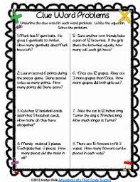 math clue words activities freebie by amber polk tpt