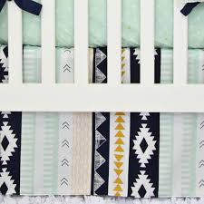 Black And Gold Crib Bedding Aztec Crib Bedding This Print Is So On Trend And We Can U0027t Get