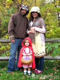 Disney Family Halloween Costume Ideas by Little Red Riding Hood Grandma Big Bad Wolf Family Costume