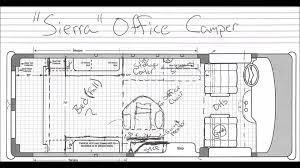 4g vlog office camper van floor plan youtube