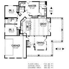 Home Plans With Master On Main Floor Adobe Southwestern Style House Plan 3 Beds 2 00 Baths 1700 Sq