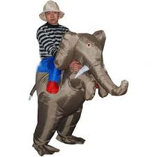 funny adults halloween costume inflatable ride on elephant costume