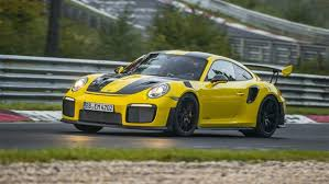 Porsche Cayenne Yellow - 2018 porsche 911 gt2 rs sets record in nürburgring nordschleife