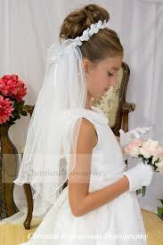 holy communion veils satin flowers wreath holy communion veil firstcommunions