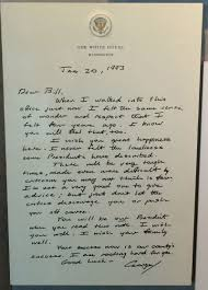 thanksgiving letter to colleagues before he left office bush sr left this letter for bill clinton