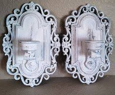 Shabby Chic Wall Sconces Homco Wall Sconce White Wall Sconce Candle Holder By Swede13