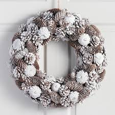 pinecone wreath frosty pinecone wreath world market