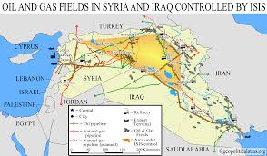 Palmyra Syria Map by New Map Of Oil And Gas Fields In Central Syria With Rough