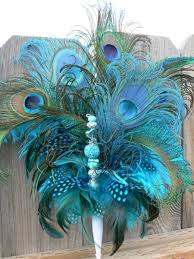peacock turquoise peacock feather cake topper with jewels in turquoise aqua teal
