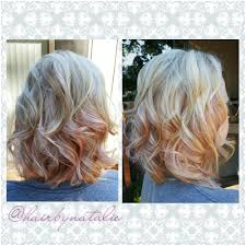 what are underneath layer in haircust layered bob haircut with light pink color slices underneath