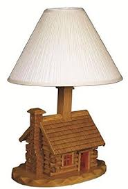 Cabin Light Fixtures Amish Log Cabin Lamp With Shade Amazon Com
