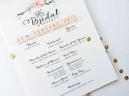 Program Fan Double Sided Typography Wedding Program Fan Misiu Papier