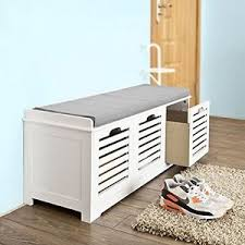 Shoe Storage Bench Hallway Storage Bench Seat Shoe Cabinet With Drawers Wooden White
