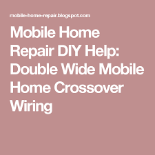 double wide mobile home duct work with crossover layout diagram
