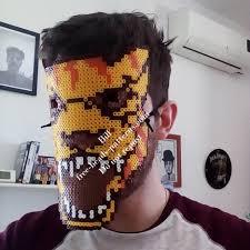 bead masks perler work hotline miami tony wearable mask 10 free