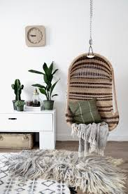 gorgeous hanging chair and a green plants home decor pinterest