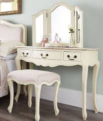 rochelle shabby chic champagne painted dressing table with wooden
