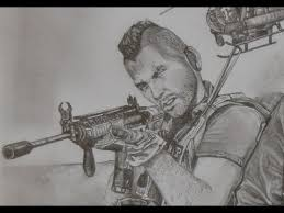 sketch of top ten modern awesome modern warfare 2 drawing