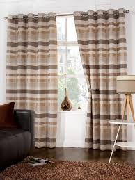 Chocolate Curtains Eyelet Brown Striped Eyelet Curtains Functionalities Net