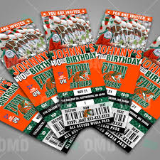 florida a u0026m rattlers ticket style sports party invitations great
