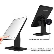 touch screen led makeup mirror krasr infinite beauty