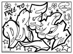graffiti color pages detailed landscape coloring pages for adults funky graffiti