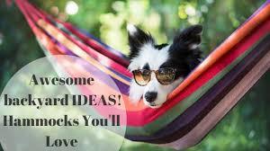 awesome backyard ideas hammocks you u0027ll love youtube