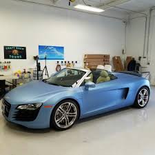 matte teal car audi r8 wrapped in avery dennison matte metallic powder blue yelp