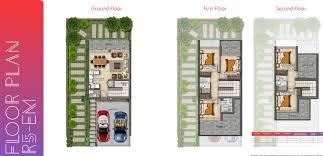 akoya mega villas cluster floor layout plan