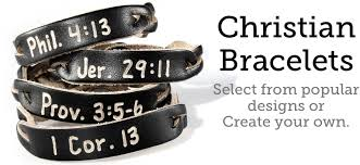 christian bracelet christian bracelets personalized leather bracelets