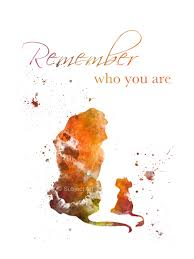 King Home Decor Art Print The Lion King Quote U0027remember Who You Are U0027 Illustration