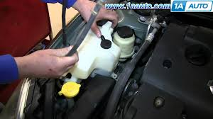 nissan acura 2003 how to install replace radiator coolant overflow bottle 2002 06