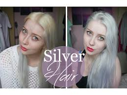 pravana silver hair color silver white blonde hair tutorial youtube