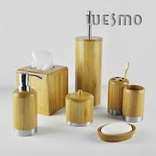 Bamboo Bathroom Accessories by Bamboo Bathroom Set Wesmo