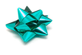 christmas gift bow photo of ornate cyan bow for gift wrapping free christmas images